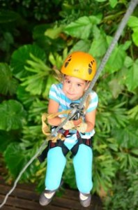 4 year old does canopy tour in Costa Rica!