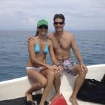 Kent & Estela at Cano Island