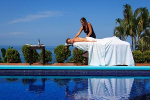 Spa - Poolside massage, villa rentals in Costa Rica