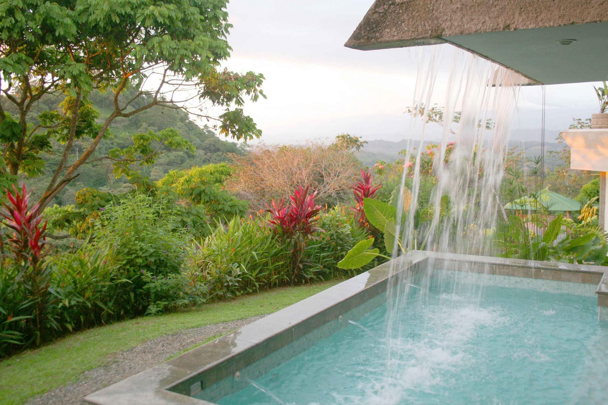 Casa de las Cascadas, Manuel Antonio, Costa Rica The waterfall and lower pool