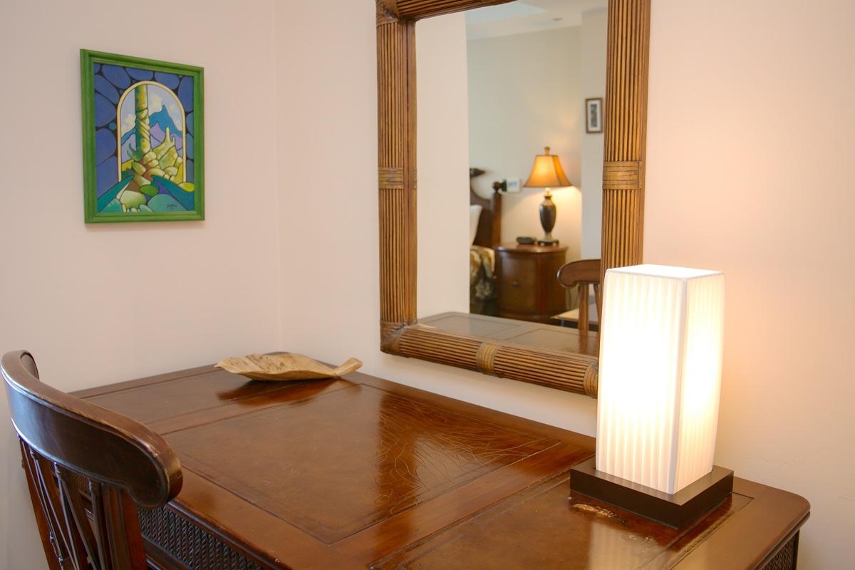 Shana Residences #310, Manuel Antonio, Costa Rica Writing area in master bedroom.