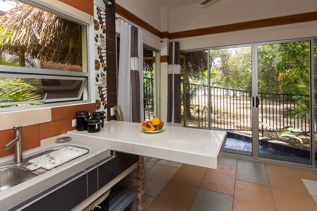 Each villa comes with a fully-equipped kitchenette.