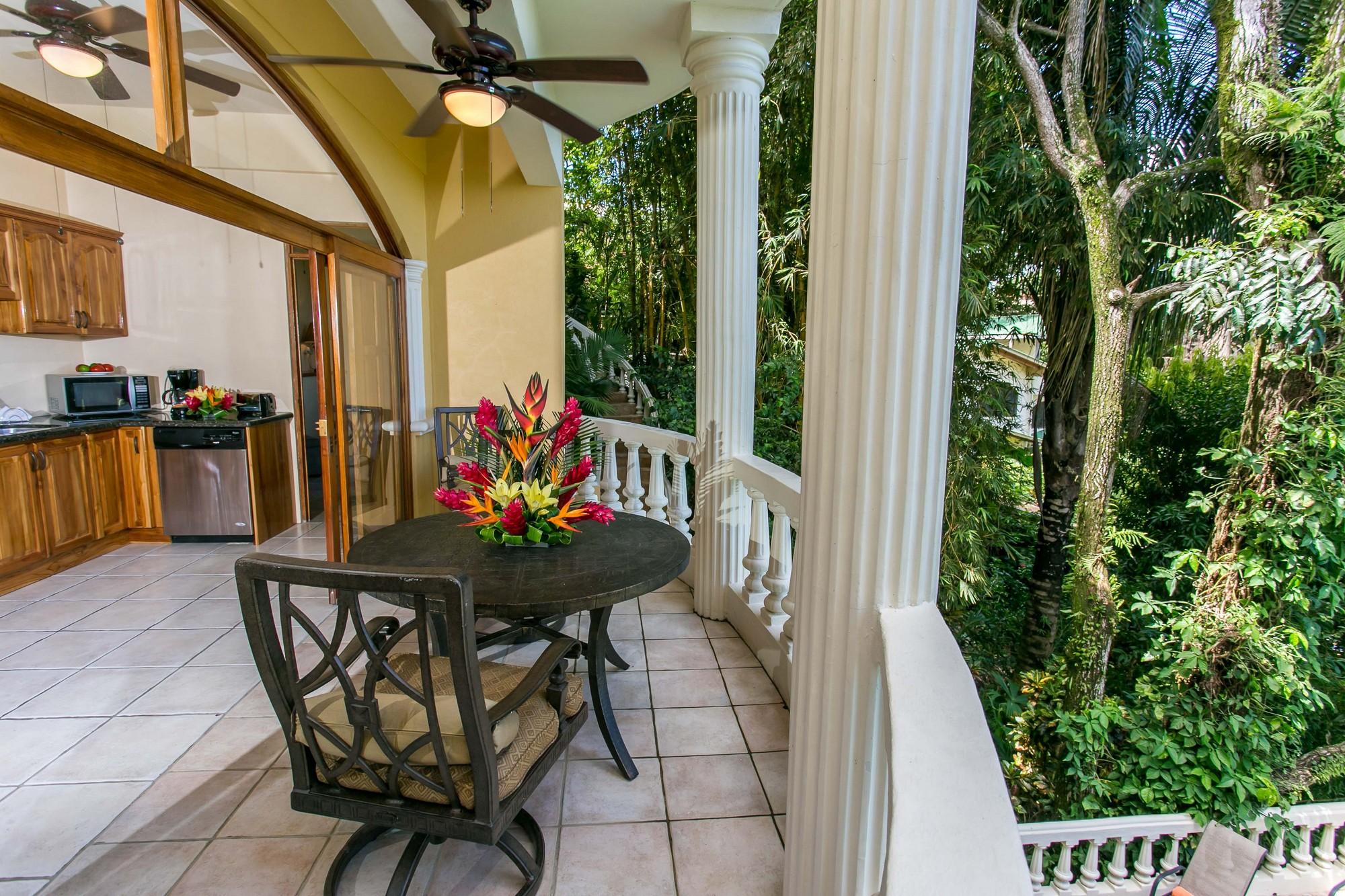 Kastytis Kourt, Manuel Antonio, Costa Rica Open area dining.
