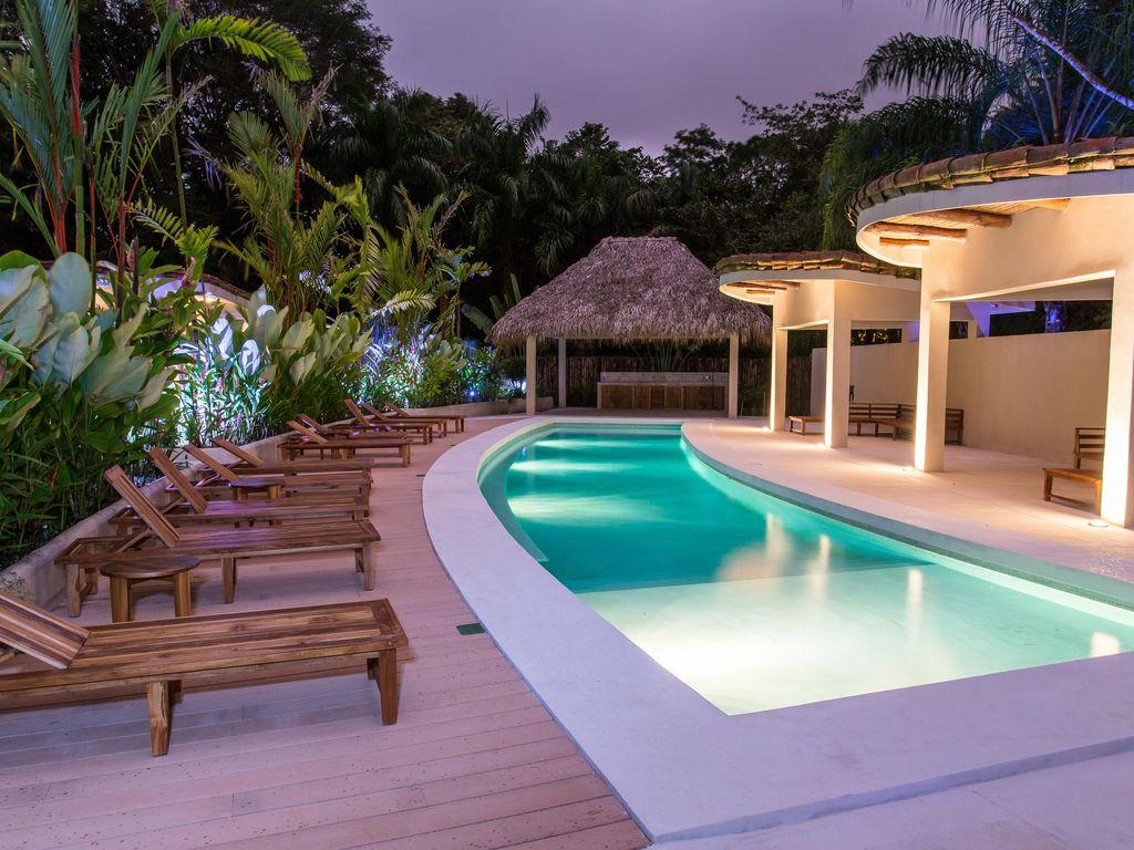 Pool at dusk Rio Mono Condos Manuel Antonio Costa Rica
